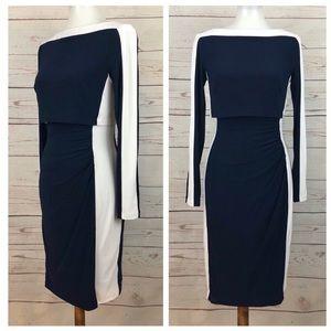 Ralph Lauren Colorblock Boatneck Crop Top Dress